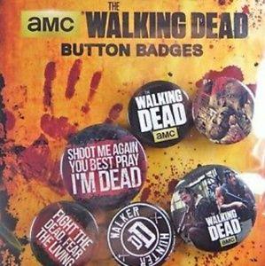 Walking dead 4 button pins